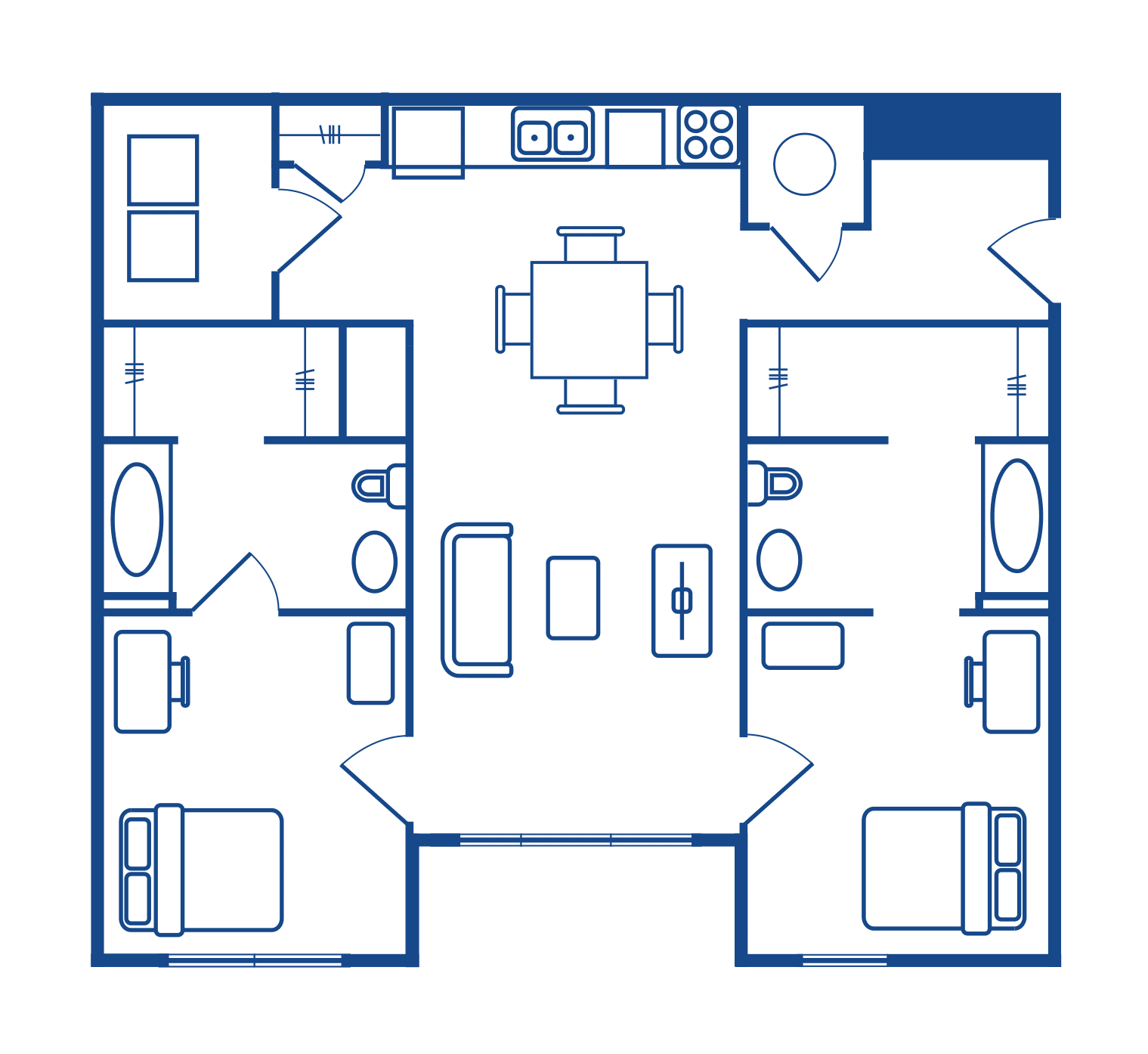 2 Bedroom & 2 Bath Apartments